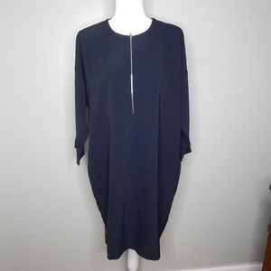 everlane women dress black sz 12